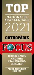 Focus Top Nationales Krankenhaus für Orthopädie 2021