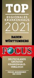 FOCUS Top Regionales Krankenhaus 2021 Baden-Württemberg