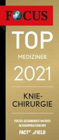 Focus Top Mediziner 2021 Kniechirurgie
